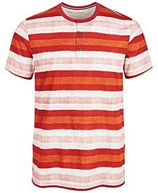 Men's Basket Stripe Henley, Created for Macy's