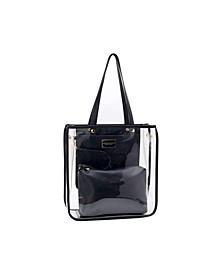 Clear Top Handle Tote Bag