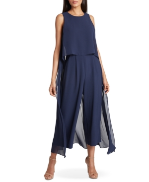 Tahari Asl Cropped Cape Jumpsuit, Created for Macy's