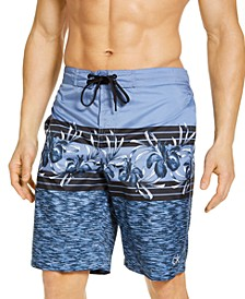 "Men's Floral-Print UPF 50+ 10"" E-Board Shorts"