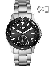 Men's FB-01 Stainless Steel Bracelet Hybrid Smart Watch 42mm