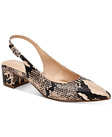 Charrlee Step 'N Flex Block-Heel Slingback Pumps, Created for Macy's