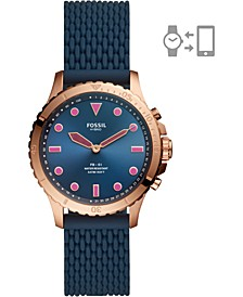 Tech Women's FB-01 Navy Blue Silicone Strap Hybrid Smart Watch 36mm