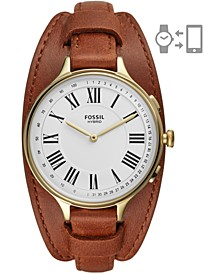 Tech Women's Eleanor Luggage Leather Strap Hybrid Smart Watch 36mm