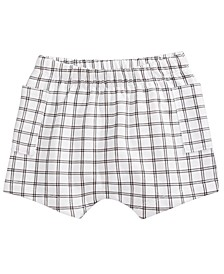 Baby Boys Windowpane Plaid Shorts, Created for Macy's