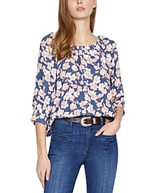 Enchanted Floral-Print Top