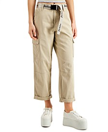 Belted Cargo Capri Pants