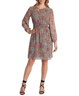 Tahari Asl SMOCKED DRESS