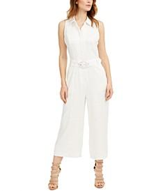 Ilaria Belted Linen Jumpsuit