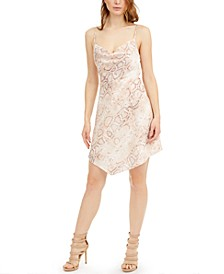 Lucy Snake-Embossed Mini Dress