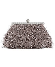 INC Fuzzy Pouch Clutch, Created for Macy's