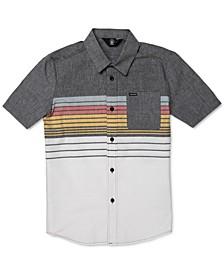 Big Boys Cotton Combo-Stripe Short-Sleeve Shirt