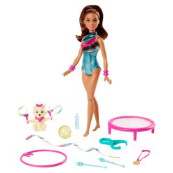 Barbie Dreamhouse Adventures Spin n Twirl Gymnast Doll and Accessories