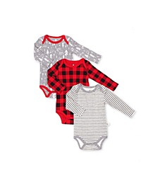 Hot Cocoa Baby Boys and Girls Bodysuit, 3 Pack