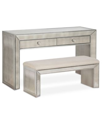 Sophia Mirrored Collection, 2 Piece Set (Console & Bench)