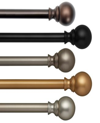 "Cordelia Adjustable 86""-120"" Curtain Rod with Ball Finials"
