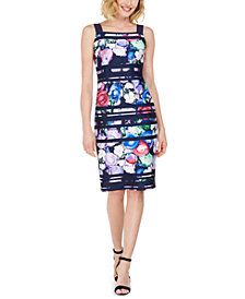 Adrianna Papell Floral-Print Bodycon Dress, Created for Macy's
