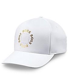 BOSS Men's Cap-Circle White Hat