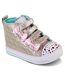 Toddler Girls Twinkle Toes Shuffle Lite Quilted Beauties Stay-Put Closure Casual Fashion Sneakers from Finish Line
