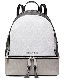 Signature Rhea Zip Small Leather Backpack