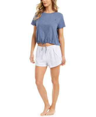 Cropped Tie-Front Lounge T-Shirt