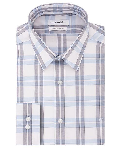 Calvin Klein Men's Slim-Fit Gingham Dress Shirt