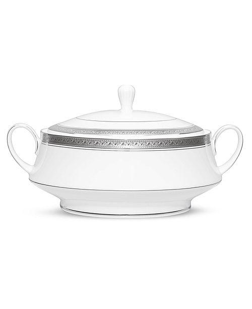 Noritake Crestwood Platinum Covered Vegetable Bowl