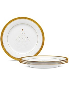 Crestwood Gold Set/4 Holiday Accent  Plates