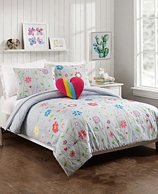 Growing Garden 3-Piece Twin Comforter Set