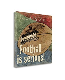 Football by Jo Moulton Giclee Print on Gallery Wrap Canvas