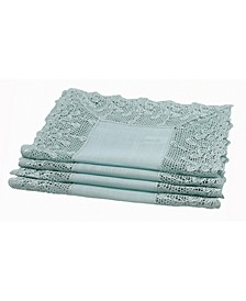 Garden Trellece Lace Trim Placemats - Set of 4