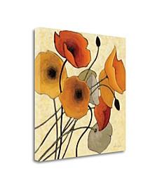 Pumpkin Poppies II by Shirley Novak Giclee Print on Gallery Wrap Canvas