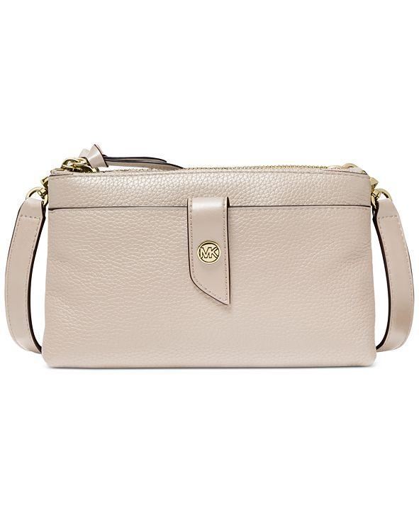Michael Kors Tab Leather Crossbody Bag