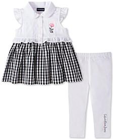Baby Girls 2-Pc. Gingham Tunic & Leggings Set