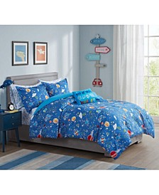 Astro Glow-In-The-Dark 5-Pc. Twin Comforter Set