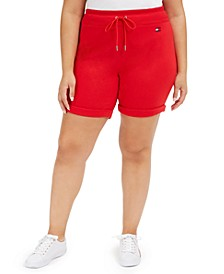 Plus Size Cuffed Shorts