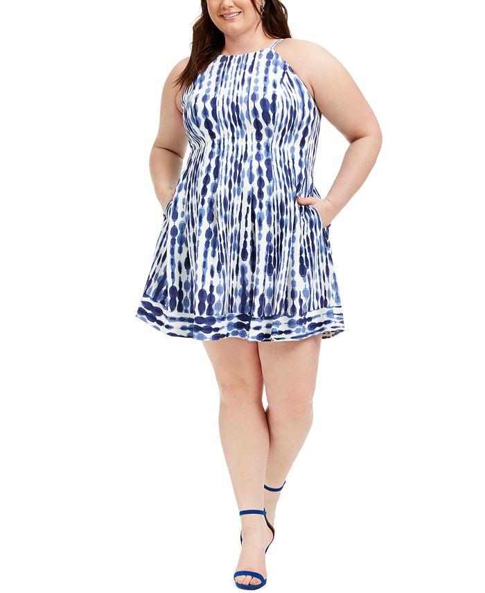 Vince Camuto - Plus Size Fit & Flare Halter Dress
