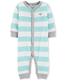 Baby Boys 1-Pc. Striped Koala Cotton Sleep & Play