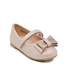 Toddler &  Little Girls Ballet Flat Dress Shoe