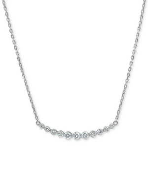 """Lab-Created Diamond 16"""" Statement Necklace (3/4 ct. t.w.) in Sterling Silver"""