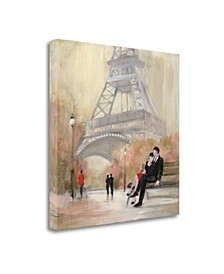 Romantic Paris I Red Jacket by Julia Purinton Giclee on Gallery Wrap Canvas