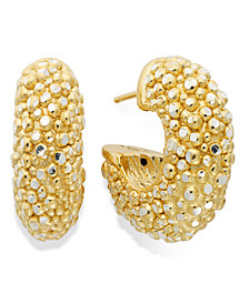 The Fifth Season by Roberto Coin 18k Gold over Sterling Silver Earrings, Small Stingray Hoops