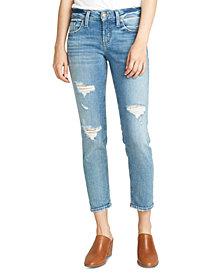 Silver Jeans Co. Distressed Cropped Boyfriend Jeans