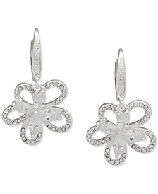 Crystal 3D Flower Drop Earrings