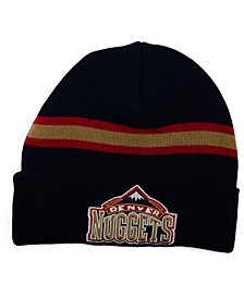 Denver Nuggets HWC Retro Stripe Knit Hat