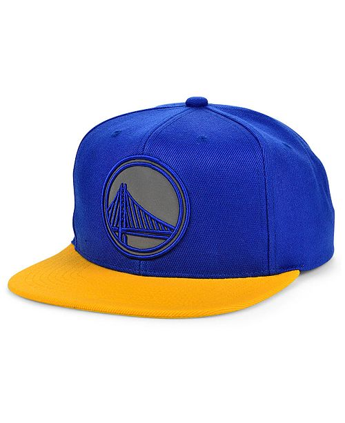 Mitchell & Ness Golden State Warriors 2 Team Reflective Snapback Cap