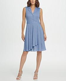 Sleeveless Fit & Flare Shirtdress