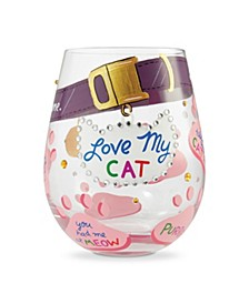 LOLITA Love My Cat Stemless Wine Glass