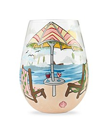 LOLITA Beach Please Stemless Wine Glass