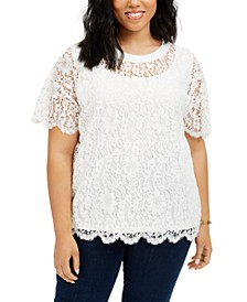 Plus Size Lace Top, Created for Macy's